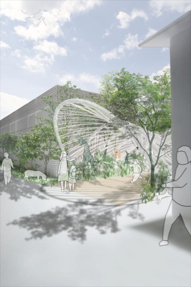 (C)UID-Entrance gate in T nursery school project 03