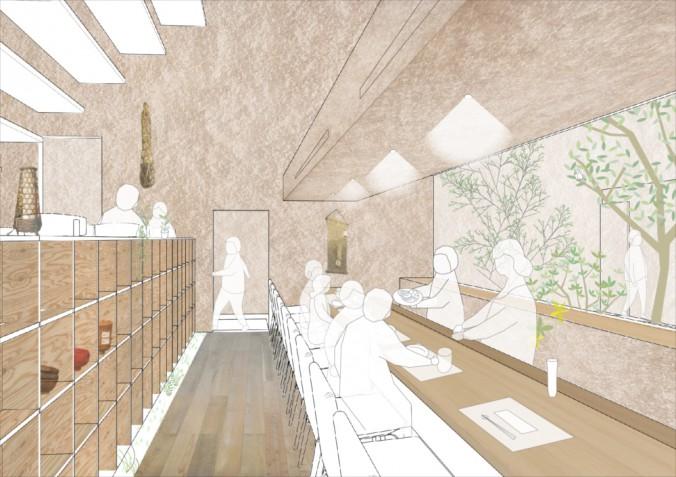 Seikichi Takahara Restaurant_perspective02