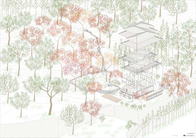 (C)UID-villa Ushiroyama_AXONOMETRIC  cs2-01